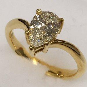 ダイヤモンドリング1.02Ct K18 リング 1.02Ct K18