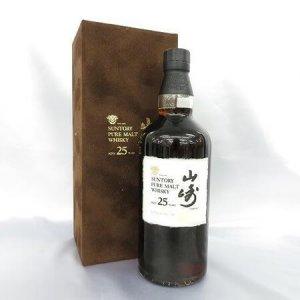 山崎 25年 1998ボトルイン ピュアモルト ベロアケース 25年 ピュアモルト