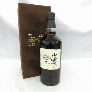 山崎 25年 1999ボトルイン ピュアモルト ベロアケース 箱