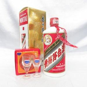 貴州茅台酒 マオタイ酒 天女ラベル 500ml 38% 2004年 箱/グラス/冊子あり