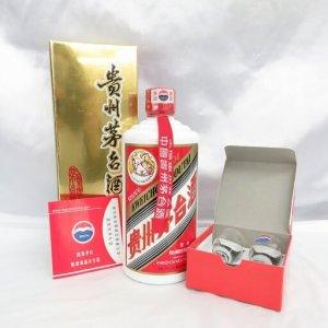 貴州茅台酒 マオタイ酒 天女ラベル 500ml 53% 2004年 箱/グラス/冊子付